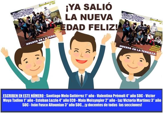 """¡¡¡Ya está disponible """"Edad Feliz"""" de JULIO/AGOSTO!!!"""